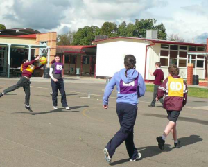Picture: Students VS Teachers in Netball