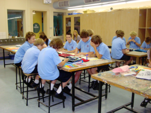 Picture: Year 7's in the Art Room