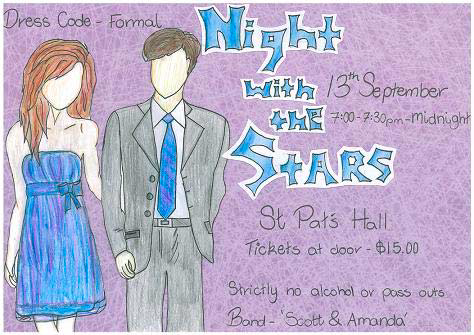 Picture: Poster for Year 10 Formal